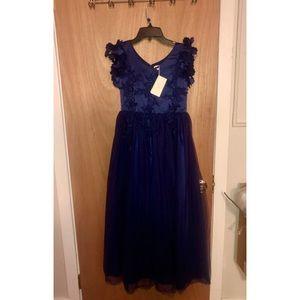 Brand New Navy Blue Girl Sz.14 Gown